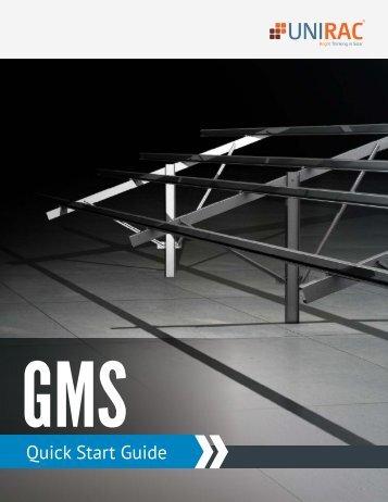 GMS Quick Start Guide - Unirac