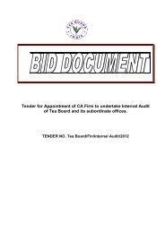 Tender for Appointment of CA Firm to undertake Internal Audit of Tea ...