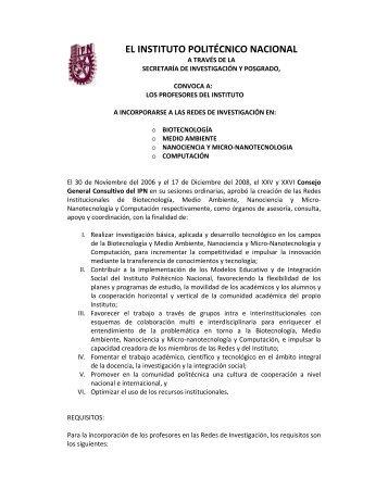el instituto politécnico nacional - Centro de Investigación en ...