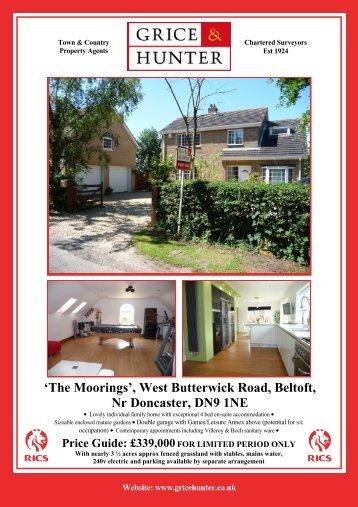 The Moorings, Beltoft, DN9 1NE - Grice & Hunter