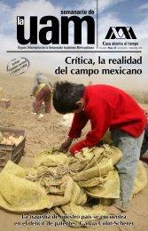 Crítica, la realidad del campo mexicano - UAM. Comunicación Social