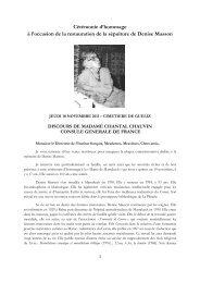 Discours de Madame Chantal Chauvin, Consule Générale de France