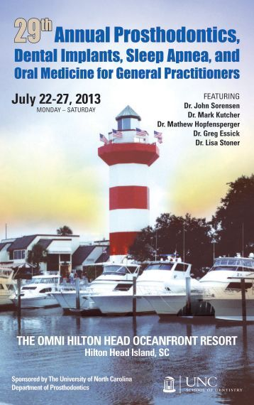 Annual Prosthodontics, - UNC School of Dentistry - University of ...