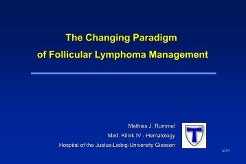 The Changing Paradigm of Follicular Lymphoma Management ...