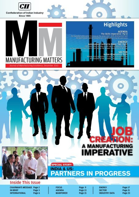 Journal of Manufacturing Excellence, December 2010 - CII