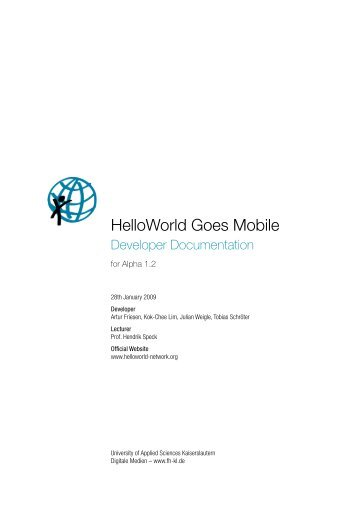HelloWorld Goes Mobile