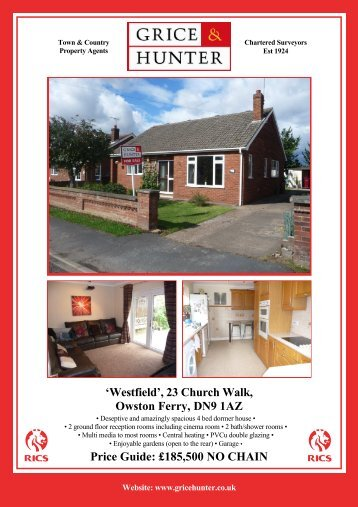 23 Church Walk, Owston Ferry, DN9 1AZ - Grice & Hunter