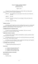 Reg. Minutes 8-27-12 - Valley Central School District