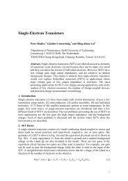 SINGLE-ELECTRON TRANSISTORS