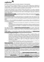 Información sobre operativa en mercados extranjeros ... - Cajastur