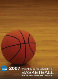 2007 NCAA Men's and Women's Basketball Rules ... - ArbiterSports