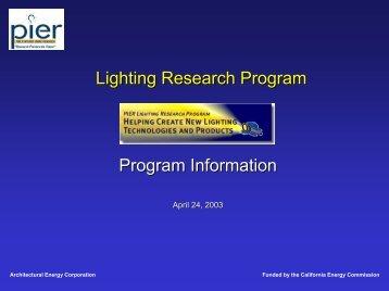 Program Information - Architectural Energy Corporation