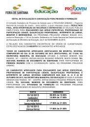 Resultado Final - Prefeitura Municipal de Feira de Santana