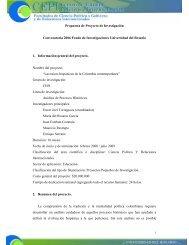 Propuesta de Proyecto de Investigación Convocatoria 2006 Fondo ...