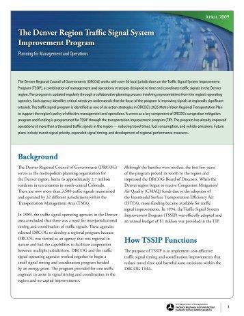 The Denver Region Traffic Signal System Improvement Program