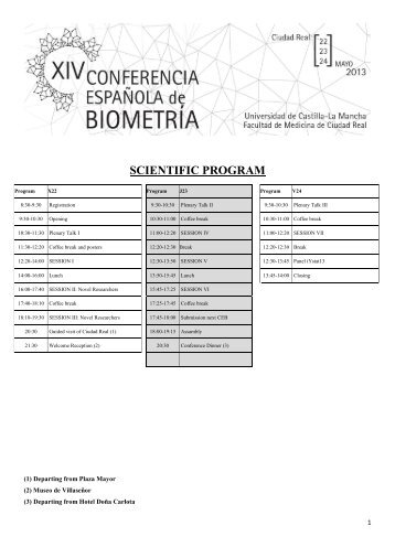 Complete Scientific Program - Estadística e Investigación Operativa ...
