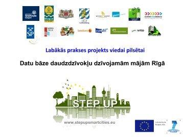 Datu bāze dzīvojamām mājām Rīgā - Rīgas enerģētikas aģentūra
