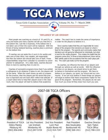 Mar - Texas Girls Coaches Association