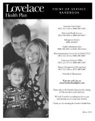 POS Evidence of Coverage - Lovelace Health Plan