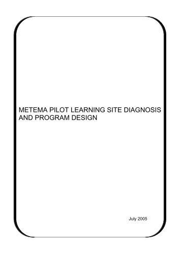 metema pilot learning site diagnosis and program design - IPMS ...