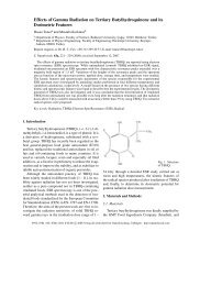 Effects of Gamma Radiation on Tertiary Butylhydroquinone and its ...