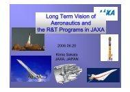 Long Term Vision of Aeronautics and the R&T Programs in JAXA