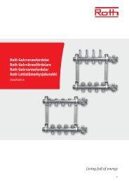 Gulvvarmefordeler, installation - Roth