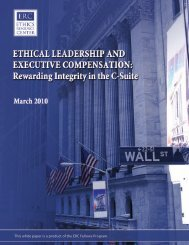 Ethical Leadership and Executive Compensation - Ethics Resource ...