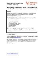 Volunteer England information sheet for non-UK volunteer ...