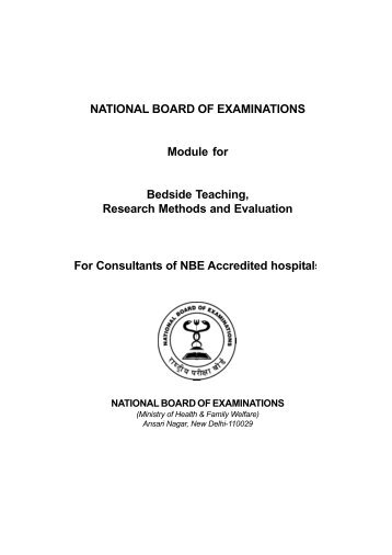 NBE CME programme for DNB consultants - National Board Of ...