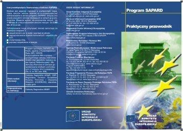 PROGRAM SAPARD: Praktyczny przewodnik - Polska w UE
