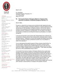 CPOM Letter to Southwest Emergency Physicians - AAEM