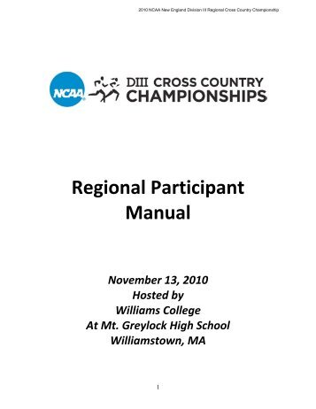 Regional Participant Manual – WSO - Williams Students Online ...