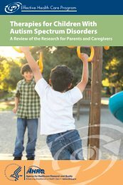 Therapies for Children With Autism Spectrum Disorders