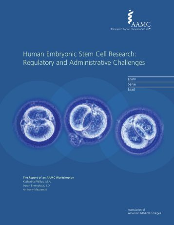 Human Embryonic Stem Cell Research - AAMC's member profile ...