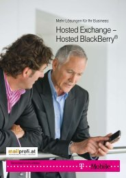 Hosted Exchange – Hosted BlackBerry® - T-Mobile Business