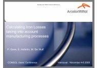 Calculating Iron Losses taking into account ... - COMSOL.com