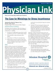 Physician Link: Case for Minislings - Urogyn.org