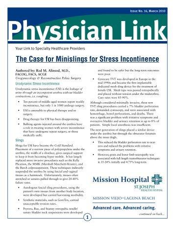 Physician Link: Case for Minislings - Urogyn.org