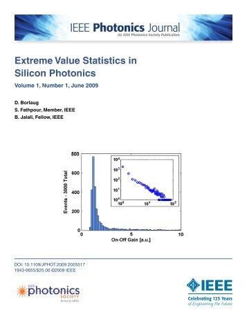 Extreme Value Statistics in Silicon Photonics - jalali-lab @ ucla