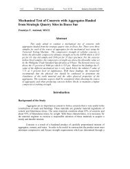 Mechanical Test of Concrete with Aggregates Hauled from ... - EISRJC