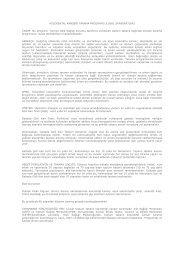 kolorektal kanseri tarama programı ulusal standartları