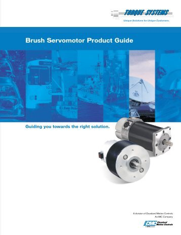 Brush Servomotor Product Guide