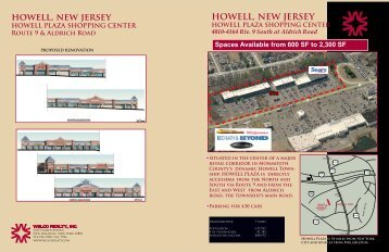Howell Plaza Shopping Center - Welco Realty, Inc