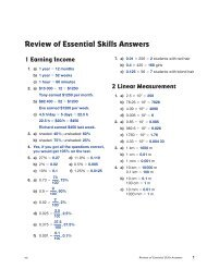 Grade 10 Review of Essential Skills - Answers