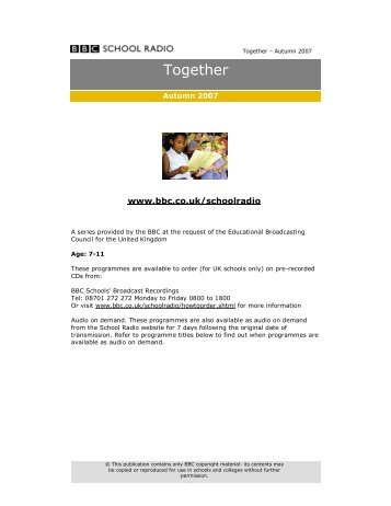 Together – Autumn 2007 - BBC