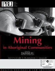 Mining in Aboriginal Communities - Miller Thomson