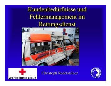 Kundenbedürfnisse und Fehlermanagement im Rettungsdienst