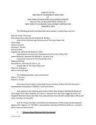 IDA Board of Directors Meeting Minutes January 8 2013 - NYCEDC