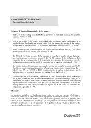 6. LAS MUJERES Y LA ECONOMÍA Las condiciones de trabajo ...